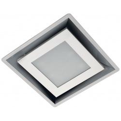 Hota de tavan Foster Modular 2518001-2519001, 34x34cm, 400 m³/h, motor 2x160W, sticlas alba/inox satinat