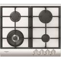 Plita incorporabila Fulgor Milano, QLH 604 G WK WH X, 60 cm, plita gaz, 4 arzatoare,sistem Stop-Gaz, butoane otel, sticla alba