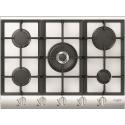 Plita incorporabila Fulgor Milano, QLH 705 G WK WH X, 70 cm, plita gaz, 5 arzatoare,sistem Stop-Gaz, butoane otel, sticla alba