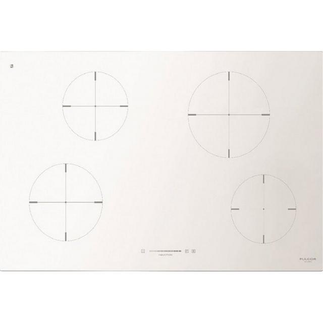 Plita incorporabila Fulgor Milano, CH 804 ID TS WH, 80 cm, plita inductie, 4 zone gatit, timmer, sticla alba