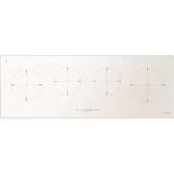 Plita incorporabila Fulgor Milano, CH 1004 ID TS WH, 100 cm, plita inductie, 4 zone gatit, timmer, sticla alba
