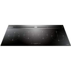 Hota DownDraft Fulgor Milano FPH 10014 TC BK, aplicata pe blat, 100 cm, touch control, sticla neagra