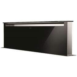Hota DownDraft Fulgor Milano LHDD 12010 RC BK, aplicata pe blat, 120 cm, telecomanda, sticla neagra