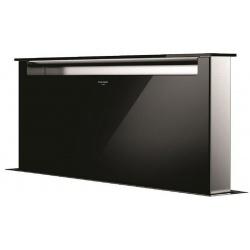 Hota DounDraft Fulgor Milano LHDD 9010 RC BK, aplicata pe blat, 90 cm, telecomanda, sticla neagra
