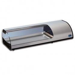 Vitrina calda de expunere incorporabila Tecfrigo SAMBA 3 VT (GN), putere 770 W, lungime 112.2 cm, +4/+10 ºC, argintiu