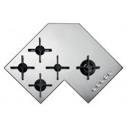 Plita incorporabila Barazza Select Plus, 90 cm, plita gaz, 5 arzatoare, sistem siguranta Stop-Gaz, inox