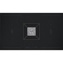 Plita incorporabila Barazza 1PIDZ90V, 90 cm, plita inductie, 4 zone gatit, aprindere electronica, inox/sticla neagra