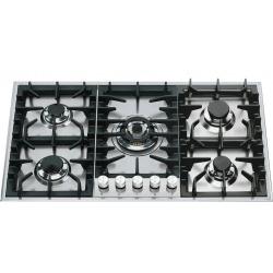 Plita incorporabila ILVE Professional Plus HP95C, 90 cm, 5 arzatoare, aprindere electronica, siguranta Stop-Gaz, inox