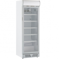 Vitrina frigorifica Klimaitalia Ekofrost EKG 450 C, cu caseta luminoasa, capacitate 400 l, temperatura 0/+10°C, alb