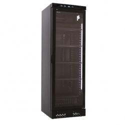 Vitrina frigorifica Klimaitalia CL 372 VG, capacitate 342 l, temperatura 0/+10°C, negru