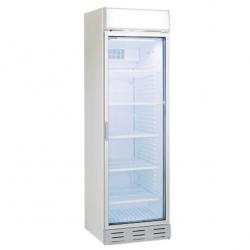 Vitrina frigorifica Klimaitalia CL 372 VGC, cu caseta luminoasa, capacitate 342 l, temperatura 0/+10°C, alb
