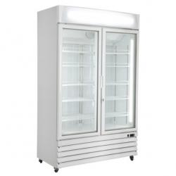 Vitrina frigorifica Klimaitalia CL 1240 VGC, cu caseta luminoasa, capacitate 800 l, temperatura 0/+10°C, alb