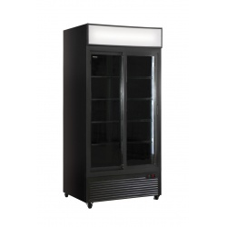 Vitrina frigorifica Klimaitalia CL 801 V2GC SL, capacitate 534 l, temperatura 0/+10°C, negru