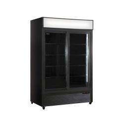 Vitrina frigorifica Klimaitalia CL 1300 V2GC SL, cu caseta luminoasa, capacitate 990 l, temperatura 0/+10°C, negru