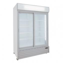 Vitrina frigorifica Klimaitalia CL 1300 V2GC SL, cu caseta luminoasa, capacitate 990 l, temperatura 0/+10°C, alb