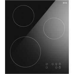 Plita inductie incorporabila ILVE Pro Line KHVI45, 45 cm, 3 zone gatit, booster, senzor pan, sticla ceramica neagra