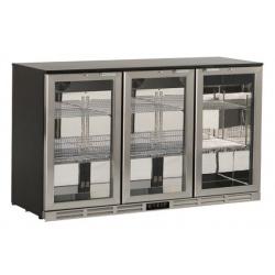 Vitrina frigorifica Klimaitalia S 285 XH, capacitate 290 l, temperatura 0/+10°C, argintiu