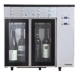 Dozator frigorific vinuri Klimaitalia Sommelier 4, capacitate 4 sticle, temperatura +4°C° / +18°C, argintiu