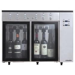 Dozator frigorific vinuri Klimaitalia Sommelier 6, capacitate 6 sticle, temperatura +4°C° / +18°C, argintiu
