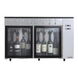Dozator frigorific vinuri Klimaitalia Sommelier 8, capacitate 8 sticle, temperatura +4°C° / +18°C, argintiu
