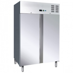 Frigider profesional Tecfrigo AGE FA 1400 PTS, capacitate 1476 litri, 2 usi, -2/+8°C, inox