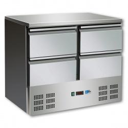 Masa rece salate Tecfrigo Salad FA 900 TOP, cu 4 sertare, capacitate 257 litri, +2/+8°C, inox