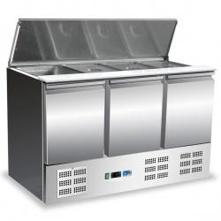 Masa rece salate Tecfrigo Salad FA 900, cu 3 usi, capacitate 257 litri, +2/+8°C, inox
