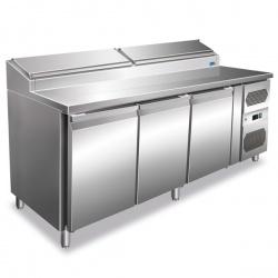 Masa rece pentru fastfood Tecfrigo Fastfood FA 180/70, cu 3 usi, putere 350W, +2+8°C, inox
