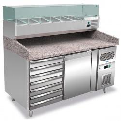 Masa rece pizza Tecfrigo Unico FA 150 C, blat granit, capacitate 274 litri, putere 350+150W, +2+8°C, inox