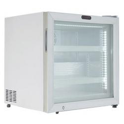 Vitrina frigorifica cofetarie FR 55 VG ST, capacitate 55 l, temperatura -18°C -25°C, alb