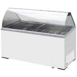 Vitrina frigorifica inghetata Klimaitalia ICE 7, capacitate 414 l, temperatura -13 / -23°C, alb
