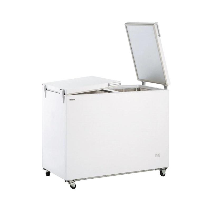 Congelator orizontal Klimaitalia FR 300 FLP, capacitate 275 l, temperatura -13 / -23°C, alb