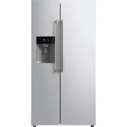 Side by Side ILVE Professional Plus , Clasa A+, capacitate neta 488 Litri, 179 cm inaltime, inox