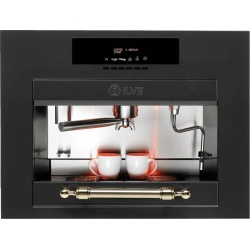 Automat de cafea încorporat ILVE Nostalgie ES645C 60x45 cm, rezervor apa, 1700 W, negru mat