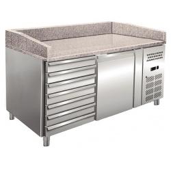 Masa rece pizza Klimaitalia PZ 01 C, capacitate 152 l, temperatura +2 / +8 °C, argintiu