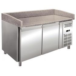 Masa rece pizza Klimaitalia PZ 02, capacitate 304 l, temperatura +2 / +8 °C, argintiu