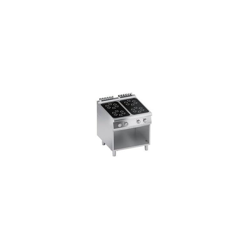 Aragaz profesional electric, Ata Italia K4EVCP10VV cu 4 arzatoare piroceramice si suport deschis