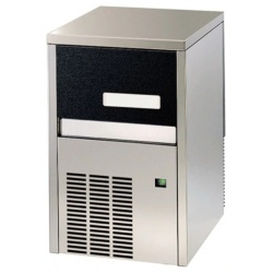 Aparat de facut cuburi gheata Klimaitalia MG 21 AZ Inox, capacitate 4 l, 260 W, 21kg/24h, Argintiu