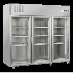 Vitrina frigorifica profesionala Cool Head RCG 1850, cu 3 usi, capacitate 1770 L, temperatura +3°C/ +10°C, inox