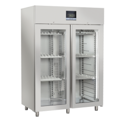 Vitrina frigorifica profesionala Cool Head QS 1500, pentru branzeturi si salamuri, 2 usi, 800 L, temperatura 0°C/ +25°C, inox
