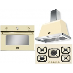 Set cuptor incorporabil LOFRA DOLCEVITA FRBI99EE + plita HRBI9A0 + hota Dolcevita 90 cm, crem