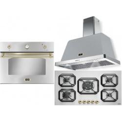 Set cuptor incorporabil LOFRA DOLCEVITA FRS99EE + plita HRS9A0 + hota Dolcevita 90 cm, inox