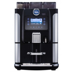 Automat de cafea Carimali Blue Dot display 4K TFT 2 rasnite rezervor apa si racord apa direct la retea negru