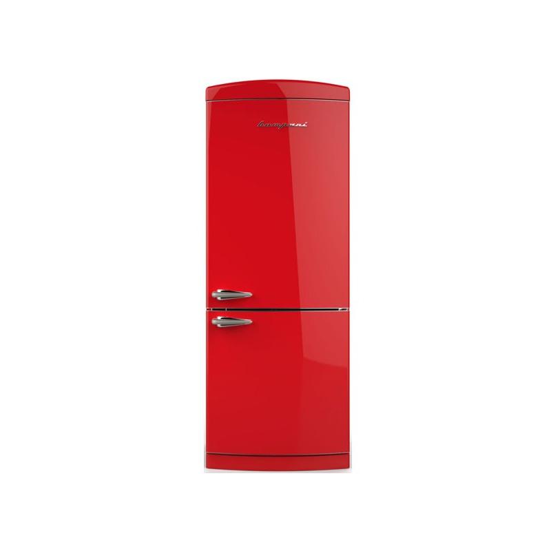 Combina Retro Bompani BOCB740/R, Clasa A+, 415 litri, Latime 70 cm, Rosu
