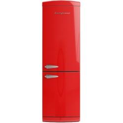 Combina frigorifica Retro Bompani BOCB697/R Clasa A+ 316 litri Latime 60 cm Rosu