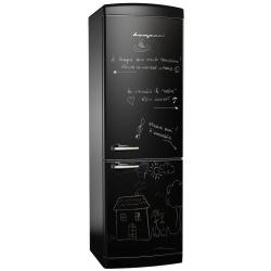 Combina frigorifica Retro Bompani BOCB681/L Clasa A+ 316 litri Latime 60 cm Negru mat