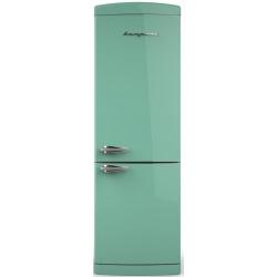 Combina frigorifica Retro Bompani BOCB672/T Clasa A+ 316 litri Latime 60 cm Turcoaz