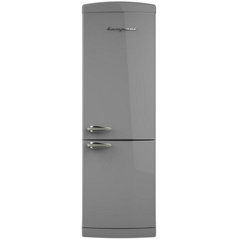 Combina frigorifica Retro Bompani BOCB671/G, Clasa A+, 316 litri, Latime 60 cm, Gri