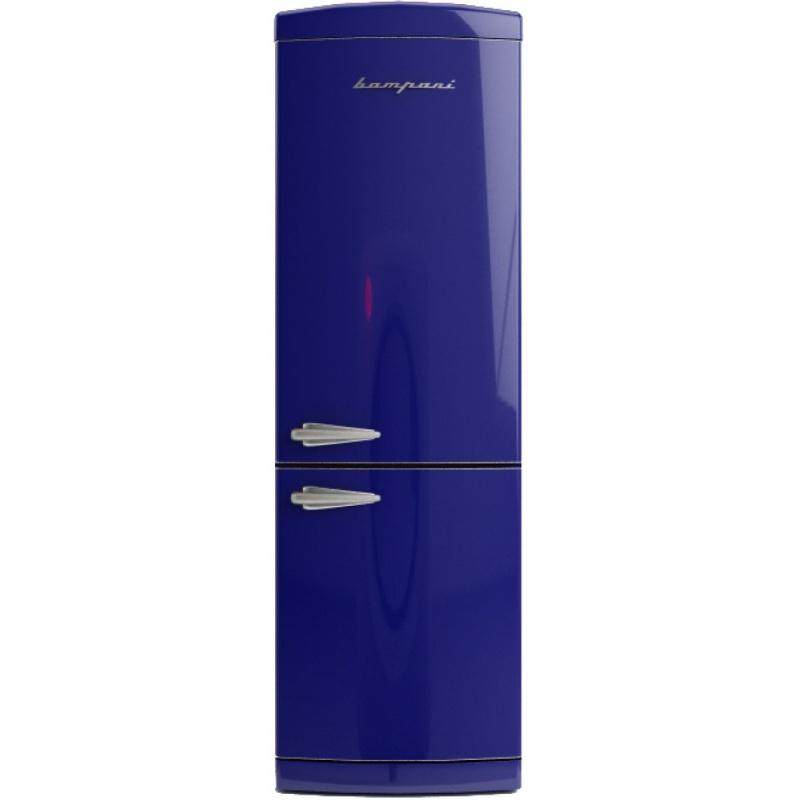 Combina frigorifica Retro Bompani BOCB662/B, Clasa A+, 316 litri, Latime 60 cm, Albastru