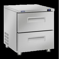 Mini frigider profesional Cool Head TRD 12, capacitate 188 l, lungime 71.1 cm, temperatura 0/ +10°C, inox